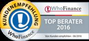 Siegel für die besten Berater Deutschlands 2016