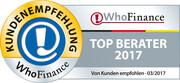 Siegel für die besten Berater Deutschlands 2017