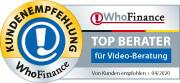 Siegel für die besten Finanzberater für Videoberatung 2020