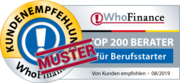 Siegel für die Top 200 Berater für Berufsteinsteiger 2019 in Deutschland